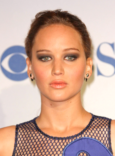 Jennifer Lawrence's Long, Wavy, Chic, Updo, Ponytail Hairstyle