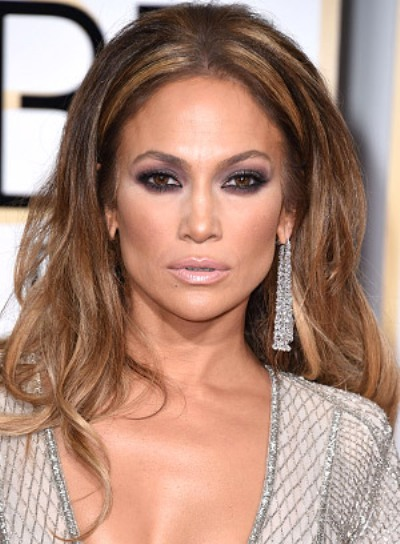 Jennifer Lopez with a Long, Sexy, Wavy, Party Hairstyle Pictures