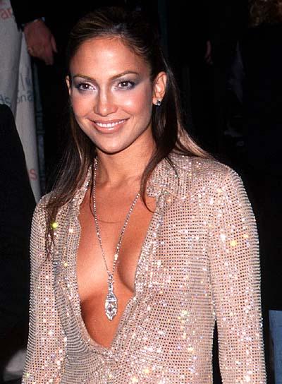 Jennifer Lopez Long, Straight Half Updo