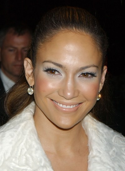 Jennifer Lopez Brunette, Chic Ponytail