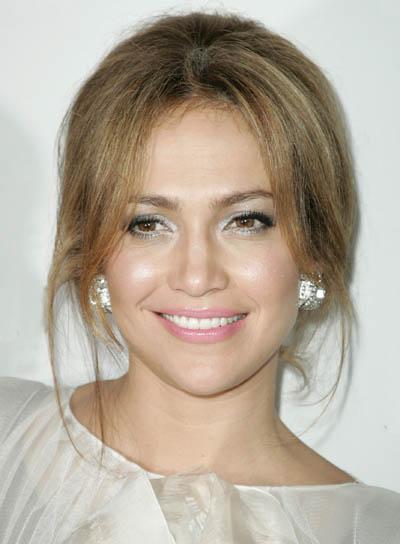 Jennifer Lopez Brunette Updo
