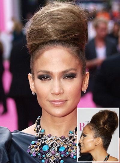 Jennifer Lopez Funky, Edgy, Brunette Updo