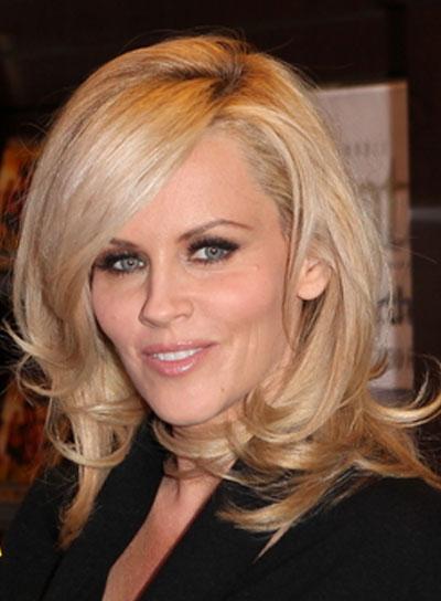 Jenny McCarthy Medium, Sexy, Layered, Blonde Hairstyle