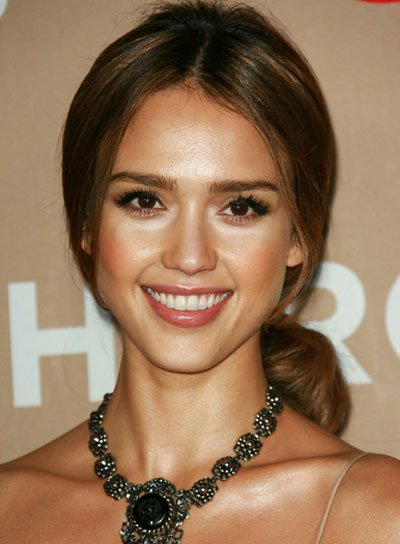 Jessica Alba Straight, Romantic Ponytail