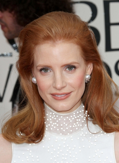 Jessica Chastain Straight, Sophisticated, Red Hairstyle