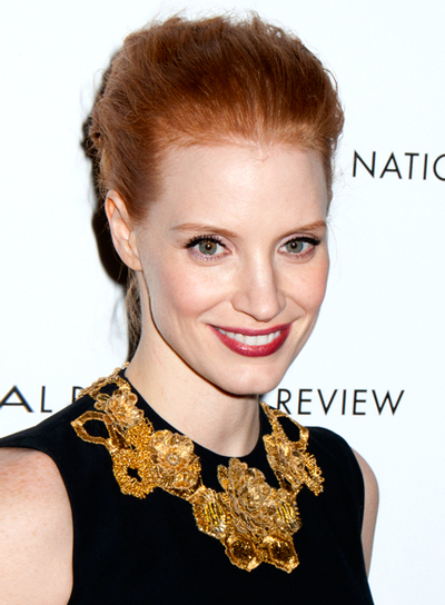Jessica Chastain's Tousled, Red, Chic, Romantic Hairstyle