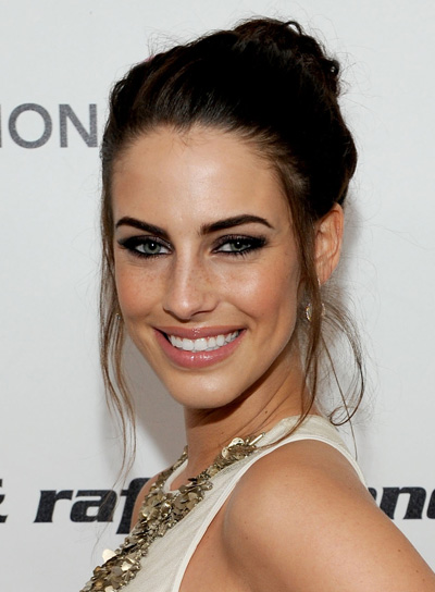 Jessica Lowndes Romantic, Brunette Updo