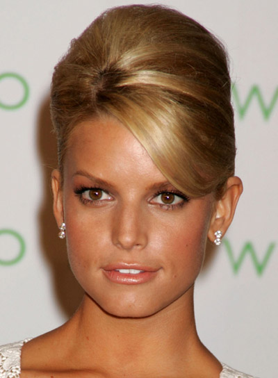 Jessica Simpson Formal Updo with Bangs
