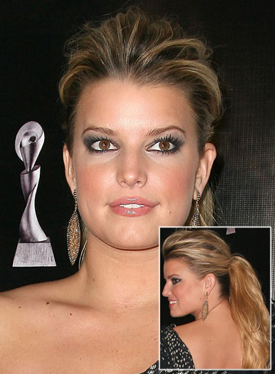 Jessica Simpson Long, Chic, Blonde Ponytail