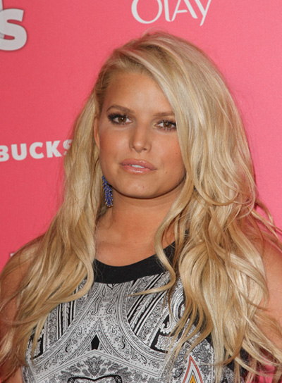 Jessica Simpson Long, Sexy, Romantic Hairstyle