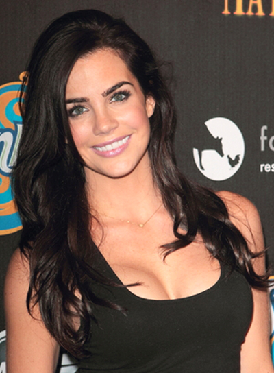Jillian Murray's Long, Tousled, Wavy, Brunette, Hairstyle