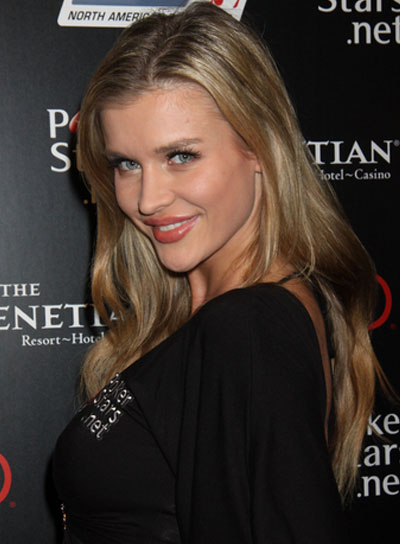 Joanna Krupa Long, Straight, Sexy, Blonde Hairstyle
