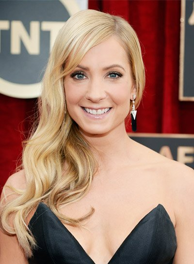 Joanne Froggatt with a Long, Blonde, Sophisticated, Wavy Hairstyle Pictures