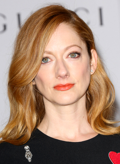 Judy Greer's Sophisticated, Long, Red Hairstyle with Highlights