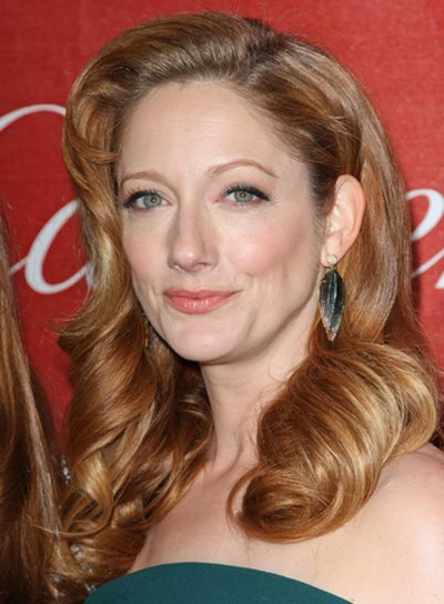 Judy Greer Long, Romantic, Sophisticated, Red Hairstyle