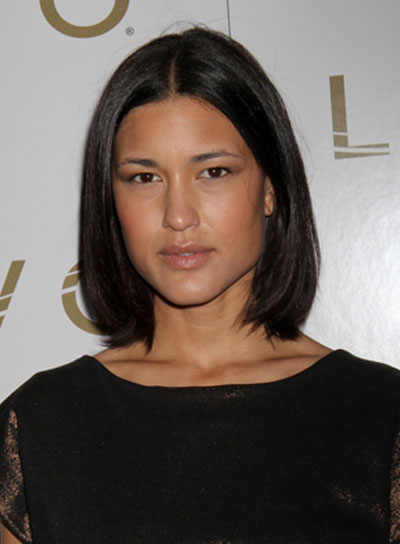 Julia Jones Short, Straight, Chic, Black Bob
