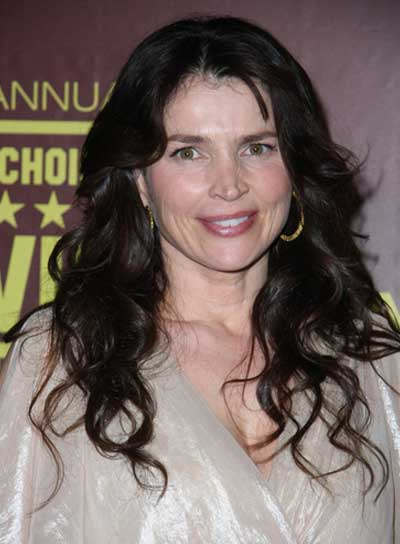 Julia Ormond Long, Wavy, Tousled, Brunette Hairstyle