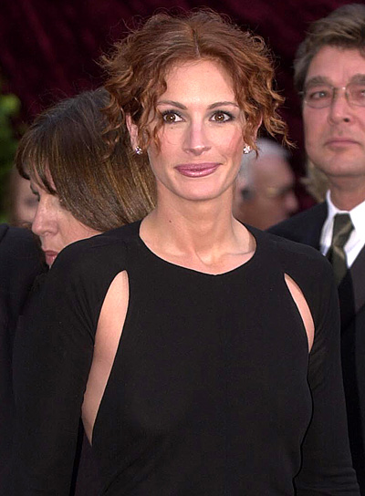 Julia Roberts Curly, Red Updo