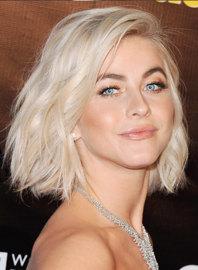 Julianne Hough's Short, Wavy, Tousled, Thick, Blonde, Bob Hairstyle
