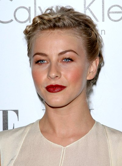Julianne Hough's Romantic, Blonde, Updo, Hairstyle with Braids and Twists