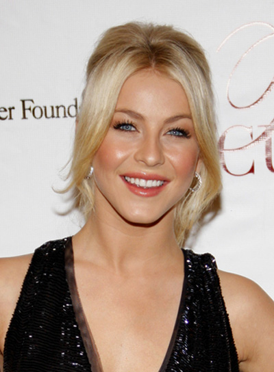 Julianne Hough Ponytail with Bangs
