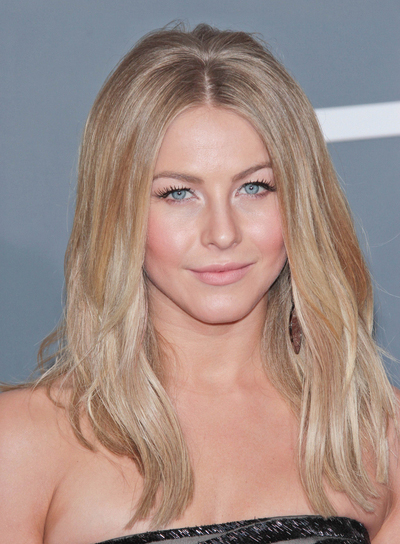 Julianne Hough Long, Sophisticated, Thick, Blonde Hairstyle