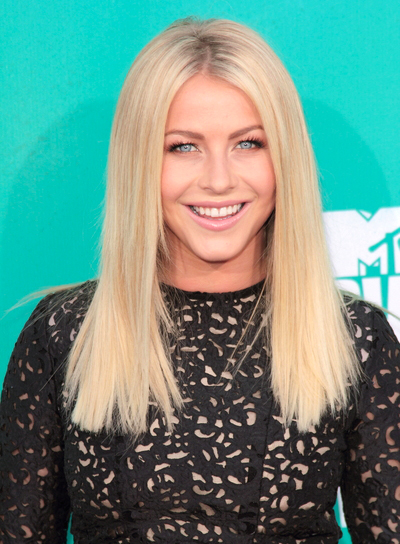 Julianne Hough's, Straight, Blonde, Chic, Party Hairstyle