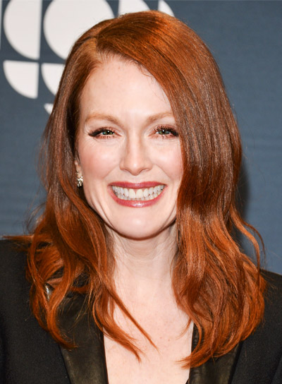 Julianne Moore with a Medium, Red, Tousled, Sophisticated Hairstyle Pictures