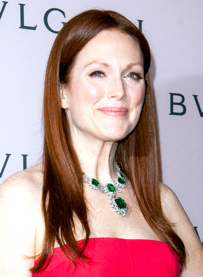 Julianne Moore's Long, Straight, Formal, Sophisticated Hairstyle