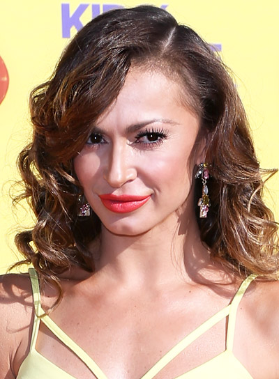 Karina Smirnoff with a Medium, Curly, Brunette, Edgy Hairstyle Pictures