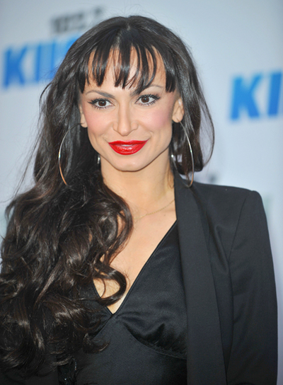 Karina Smirnoff's Long, Sexy, Curly Hairstyle with Bangs