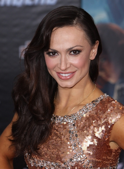 Karina Smirnoff's Long, Wavy, Romantic, Hairstyle with Bangs