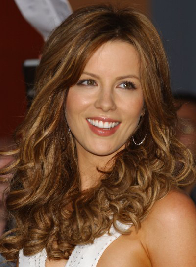 Kate Beckinsale Long, Curly, Romantic Hairstyle