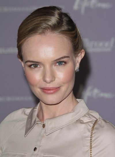 Kate Bosworth Chic, Romantic, Brunette Updo with Highlights