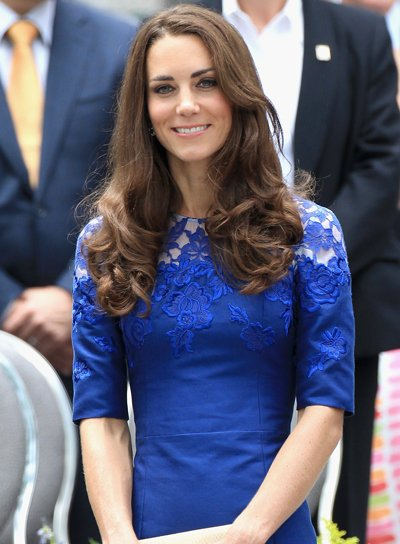 Kate Middleton Curly, Layered, Brunette Hairstyle