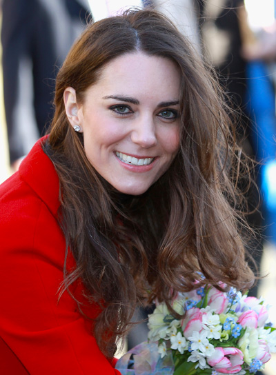 Kate Middleton Long, Sexy, Tousled, Brunette Hairstyle