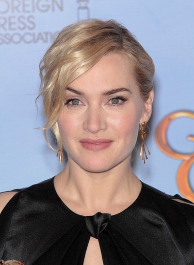 Kate Winslet Chic, Romantic, Wavy, Blonde, Party Updo