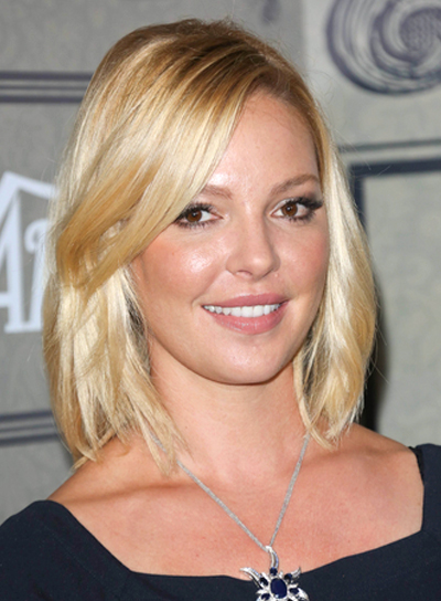 Katherine Heigl's Medium, Chic, Sophisticated, Blonde Hairstyle