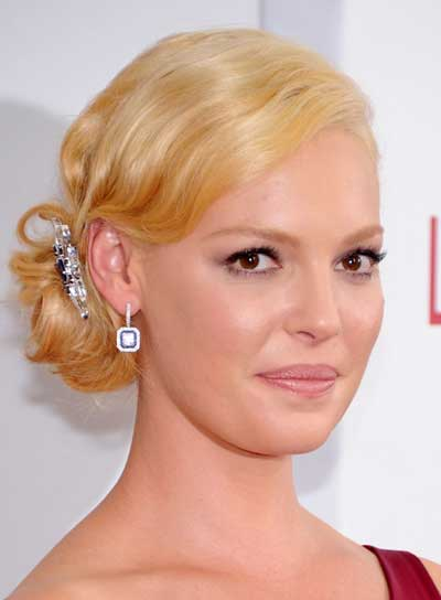 Katherine Heigl Romantic, Sophisticated, Blonde Updo