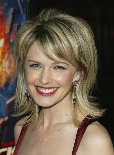Kathryn Morris Medium-Length, Blonde, Shag Hairstyle