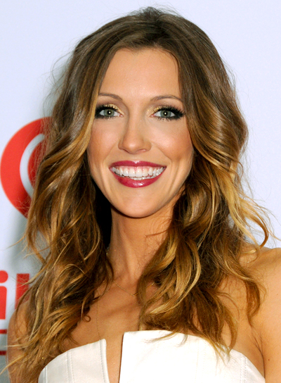 Katie Cassidy's Long, Wavy, Party Hairstyle with Highlights