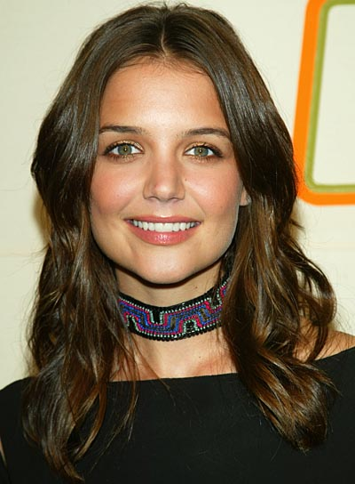 Katie Holmes Wavy, Long Hairstyle for Thick Hair