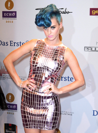 Katy Perry's Medium, Funky, Edgy, Party Hairstyle