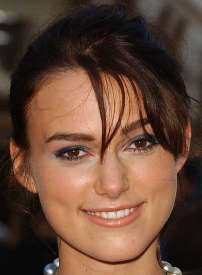 Keira Knightley Updo with Bangs