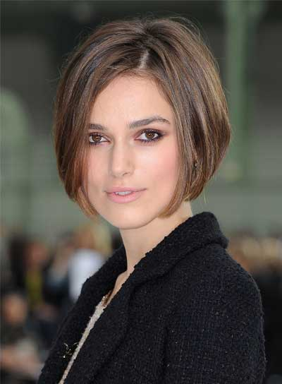 Keira Knightley Short, Straight, Chic Bob