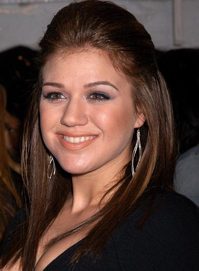 Kelly Clarkson Straight Half Updo