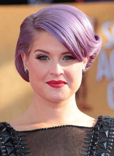 Kelly Osbourne's Edgy, Funky, Chic, Updo Hairstyle
