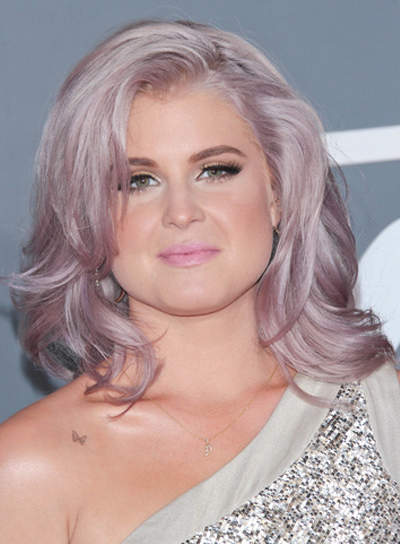 Kelly Osbourne Medium, Wavy, Tousled, Sophisticated Hairstyle