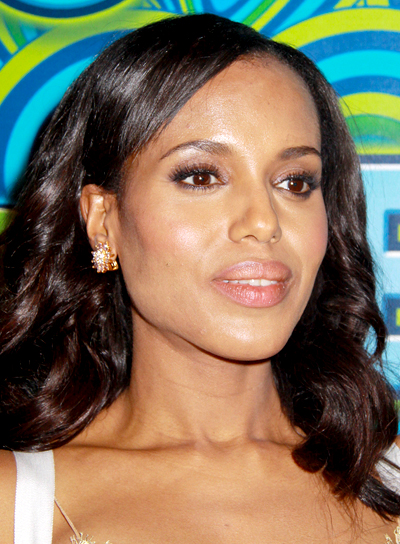 Kerry Washington's Curly, Long, Black, Sophisticated Hairstyle