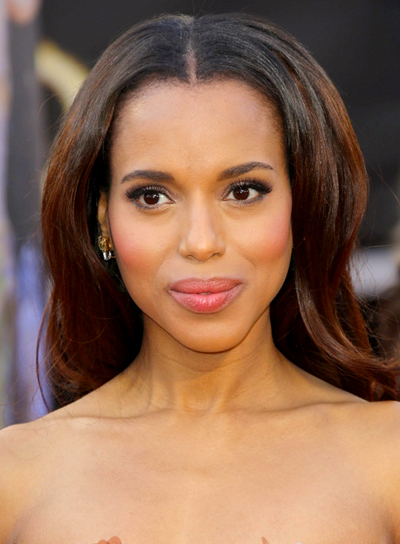Kerry Washington's Long, Brunette, Wavy, Chic Hairstyle